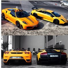 Which Yellow Beast would you choose? I choose the Ferrari!