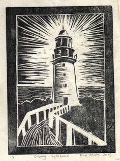 woodcut lighthouse - Google Search