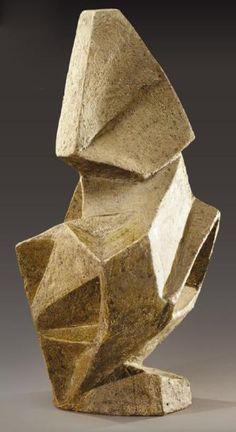 ELISABETH JOULIA Importante et rare sculpture anthropomorphe cubiste #sculpture #art