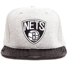 JUST DON Unisex Brooklyn Nets Fleece Baseball Cap ($280) ❤ liked on Polyvore featuring accessories, hats, embroidered hats, embroidered baseball caps, gray baseball cap, adjustable baseball cap and grey baseball cap