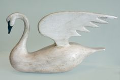 Swan sculpture. Photo by Sam Fein.