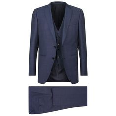 BOSS Birdseye Slim Fit 3-Piece Suit (44.745 RUB) ❤ liked on Polyvore featuring men's fashion, men's clothing, men's suits, mens slim cut suits, slim fit mens clothing, mens slim fit 3 piece suits, mens slim suits and mens slim fit suits