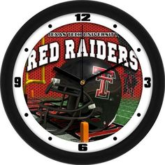 Texas Tech University Helmet Wall Clock