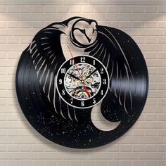 Сова фигурка украшение подарок на день рождения стены питомник виниловая пластинка часы арт