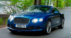 Bentley Continental GT Speed coupe can reach 329 km/h thanks to his 625 CV engine. Elegant and quick