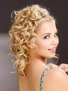 Long beautiful curly formal hairstyle