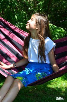 Spódnica ManuEla - trapez. - Manushop - Ubranka dla dzieci. #Manu #fashion #kids #skirts #Wasiuczyńska #flowers