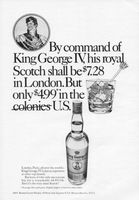 King George IV Scotch 1971 Ad Picture