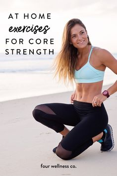 Core strength and stability is the foundation of all other fitness. Here's a set of simple core-strengthening exercises you can do at home, with just your bodyweight. No equipment needed! Wellness Tips, Health And Wellness, Health Fitness, Health Tips, Women's Health, Body Weight, Weight Lifting, Weight Loss, Fitness Goals