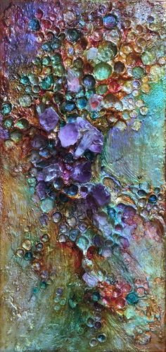 Abyssimo Mixed Media Canvas, Mixed Media Collage, Taste The Rainbow, Abstract Art, Abstract Paintings, Impressionist Paintings, Mini Paintings, Fantasy Landscape, Texture Painting