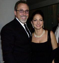 Gloria Estefan, right, arives with her husband, Emilio Estefan