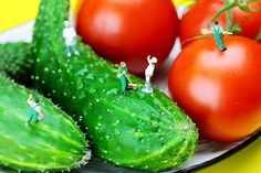 Little people on food, by Paul Ge.