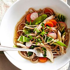 This soba noodles recipe is a quick and healthy meal for two that is packed with vegetables. Swap out the chicken or turkey for tofu to make a scrumptious vegetarian meal with lots of protein from the veggies. Only 25 minutes gives you this great meal to make for one or two people!