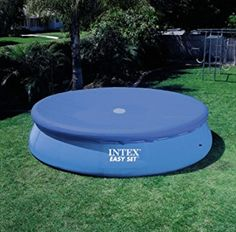 Intex Easy Set round pool covers, for all sizes of Intex Easy Set pools (with the inflatable top ring). Covering your pool when not in use is not only safer, but reduces the work for your filter and chemicals. Round Above Ground Pool, Above Ground Swimming Pools, In Ground Pools, Oberirdische Pools, Cool Pools, Piscina Intex, Easy Set Pools, Solar Cover, Backyard Trampoline