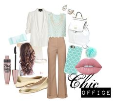 """""""Chic Office"""" by giimee-leiites on Polyvore featuring moda, Elorie, L. Erickson, River Island, Nina Ricci, Miss Selfridge, Dolce&Gabbana, Casetify, Humble Chic y Chanel"""