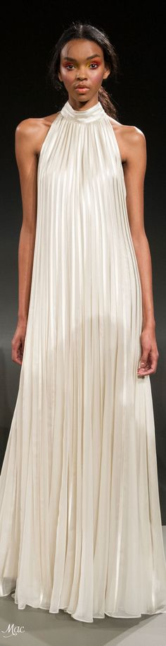 Fall 2017 RTW Carmen Marc Valvo Visit our site for Carmen Marc Valvo Sequined Lace Gown