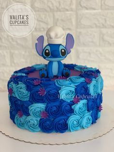 14th Birthday Cakes, Sweet 16 Party Decorations, Stitch Cake, Lilo Y Stitch, Rose Cookies, Icing Tips, Candy Dispenser, Angel Cake, Disney Birthday