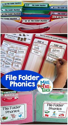 Over 20 file folder phonics activities in 2 bundles! Great for introducing phonics concepts in small group or for practice during independent centers! Reading Centers, Reading Activities, Literacy Activities, Teaching Reading, Teaching Tools, Teaching Ideas, Guided Reading Lessons, Math Lessons, Physical Activities