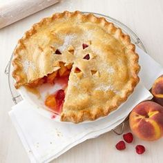 Peach-Raspberry Pie - EatingWell.com