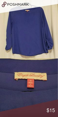 English laundry blouse Good condition.  Bundle and save. Trades ok. English Laundry Tops Blouses