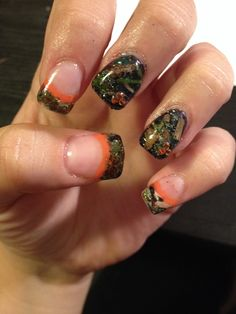 Camouflage nails!! Real leaves, bark, grass and twigs... Grad Ideas, Nails Stuff, Nails Nails, Camouflage Nails, Nails Design, Makeup, Gel Nails, Nails Ideas, Prom Ideas