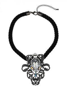 Miss Selfridge Jewel Leather Collar