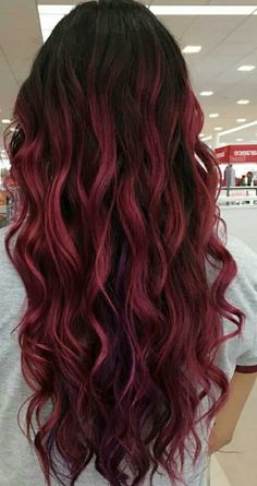 Best Hair Dyed Ideas Burgundy Red Ideas Best Hair Dyed Ideas Burgundy Red IdeasYou can find Dyed hair and more on our website. Cute Hair Colors, Hair Dye Colors, Ombre Hair Color, Cool Hair Color, Burgendy Ombre Hair, Hair Colour Ideas, Hair Color For Women, Best Hair Dye, Dye My Hair