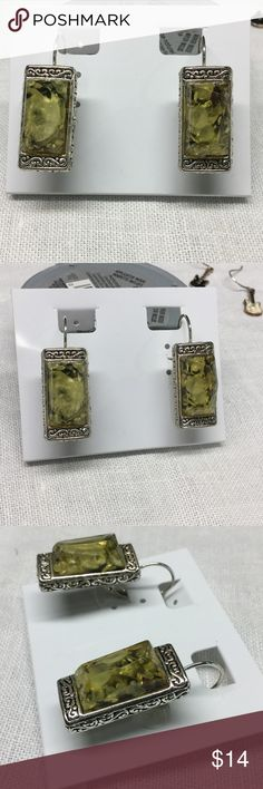 "Charming Charlie earrings New.. Beautiful..resin stone like yellow centers..measures 1 1/2"" drop Charming Charlie Jewelry Earrings"