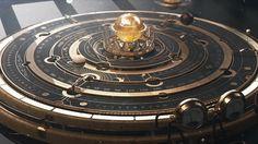 查看此 @Behance 项目: \u201cSteampunk Astrolabe Table with Ui\u201d https://www.behance.net/gallery/50259417/Steampunk-Astrolabe-Table-with-Ui