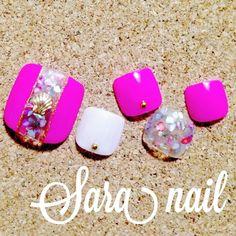 ネイル 画像 arco nail 西鉄福岡(天神) 1044706 ピンク シェル 夏 チップ フット ミディアム Spring Nails, Summer Nails, Rasta Nails, Bio Sculpture Nails, Sculpted Gel Nails, Feet Nails, Toe Nail Designs, Pretty Toes, Toe Nail Art