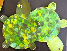 turtle activities for preschoolers | Under the Sea with Picasso and Me- Turtles and Tints