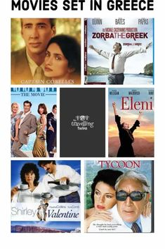 27 Awesome Movies about Greece – The Travelling Twins Awesome Movies, Good Movies, Shirley Valentine, Never On Sunday, Zorba The Greek, Travel General, Anthony Quinn, Pierce Brosnan, Borrow Money