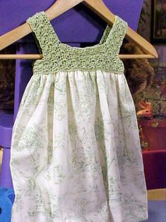 The experts at HGTV.com show you how to follow these steps to crochet and sew a simple summer dress for a little girl.