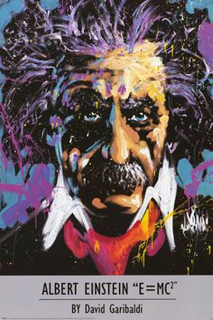 A unique portrait poster of Albert Einstein, the world's favorite genius! Art by David Garibaldi. Fully licensed. Ships fast. 24x36 inches. Be a genius and check out the rest of our smart selection of