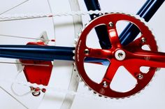 Levi's Fixie Bike: Levi's look to several bike experts to help them create a fixed gear bike inspired by the Bicycle Garage, Fixed Gear Bicycle, Road Bikes, Cycling Bikes, Levis, Push Bikes, Blue Color Schemes, Bike Shoes, Bike Parts