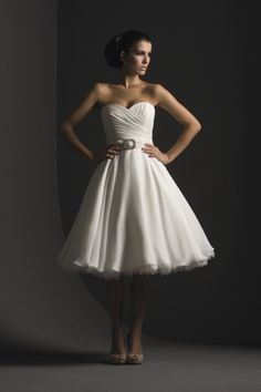 Short white dress for after hours celebrations