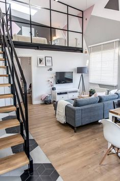 Look in any urban or downtown area, and you'll find amazing residential loft spaces. Loft apartments are usually located in … Loft Apartment Decorating, Apartment Design, Loft Design, House Design, Design Design, Design Trends, Design Ideas, Moderne Lofts, Home Interior Design