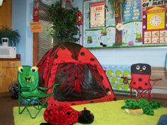 camping theme- love it! (no tent, though) from Clutter-Free Classroom: Camping Themed Classrooms