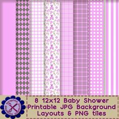 ScrapPNG: Baby Shower Collection of Printable Party and Scrapbooking Supplies Free Download