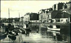Møre og Romsdal fylke  KRISTIANSUND N. Godt og pent havnemotiv med småbåter, bryggekant osv. Utg Sverdrup Postgått 1930