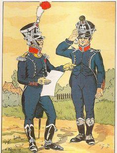 French; 8th Light Infantry, Major, Grande Tenue & Chasseur, Tenue de Ville, 1809