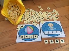 Build over 150 different 3 or 4 or 5 letter words using Printable Letter Tiles! (Suitable for Bananagrams too! Kindergarten Literacy, Early Literacy, Literacy Activities, Literacy Centers, Activities For Kids, Early Learning, Kids Learning, Teaching Language Arts, Teaching Reading