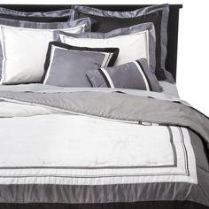 Hotel 8 Piece Bedding Set - Silver