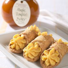 Maple Pumpkin Cannoli