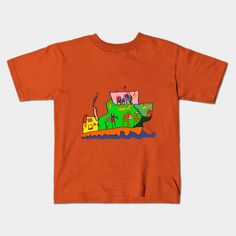 ship - Streamer - Kids T-Shirt Kids Outfits, Ship, Children, Mens Tops, T Shirt, Graphics, Clothes, Design, Fashion