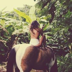 Because sometimes you just gotta ride a horse topless.