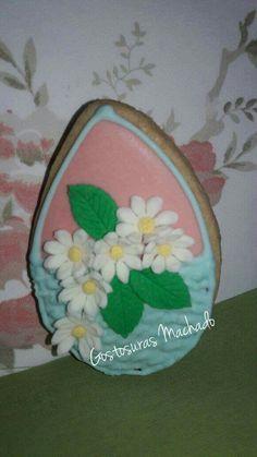 Ovo biscoito Cesta com flores