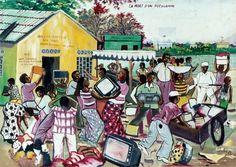 Shula (Kinshasa/Congo) - Virtual Museum of Political Art Afrikaanse Kunst, Congo Kinshasa, Political Art, Virtual Museum, Artworks, Africa, Politics, Illustration, Paint