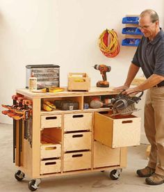 Wheel-easy Shop in a Box Woodworking Plan, Workshop & Jigs Shop Cabinets, Storage, & Organizers Workshop & Jigs Workbenches bench design furniture jigs techniques