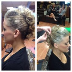 This is the Mohawk Updo. See Chelsie at Ambiance Day Spa and Salon for a style lesson. It's so much easier to do on yourself than it looks!